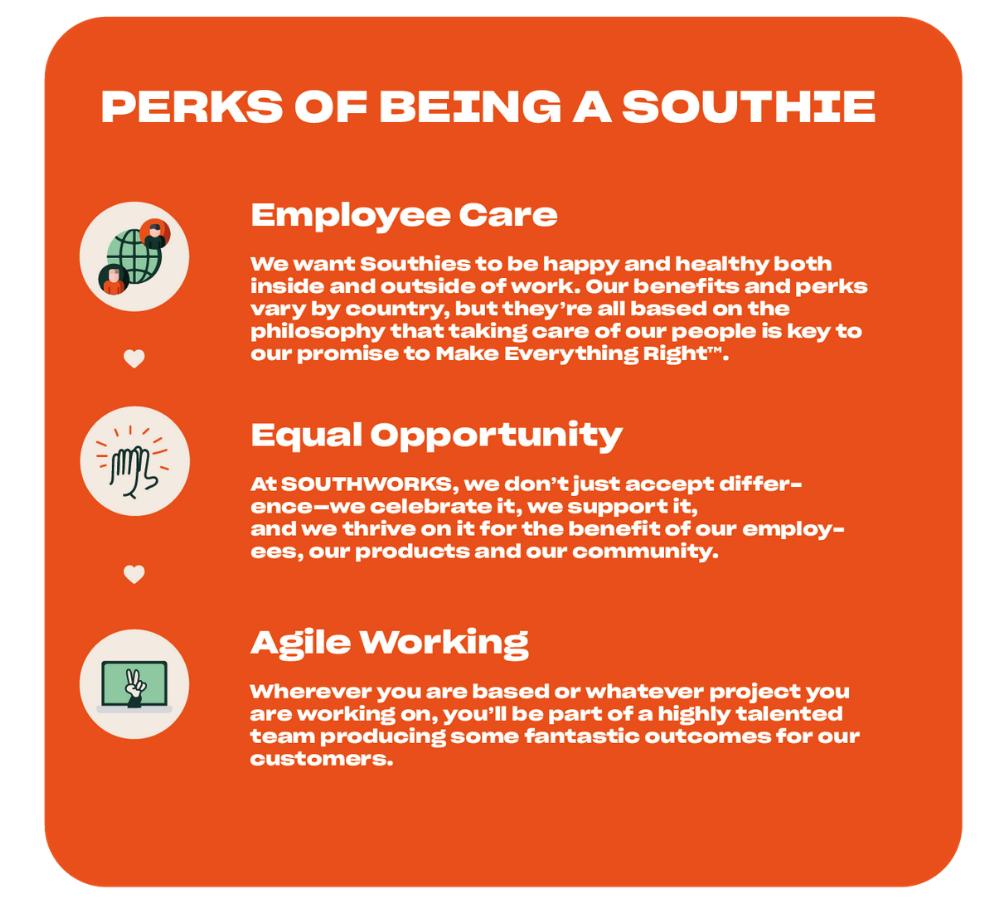 Southworks perks